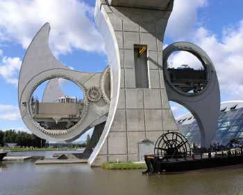 Falkirk Wheel in Bewegung